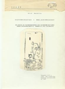 Ulf Bodin, 1987. Vapengravar i Mälarområdet. En studie av vapenfrekvenser och vapenkombinationer under folkvandringstid, vendeltid och vikingatid. Uppsats. C/20p. Inst. för arkeologi